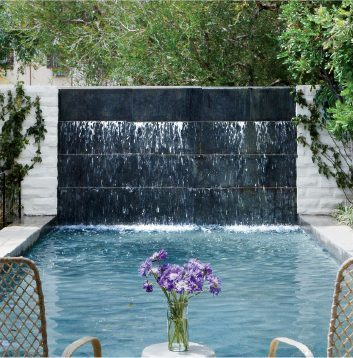 Custom Built Water Feature for Pool