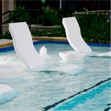 Pool with Built in Chairs